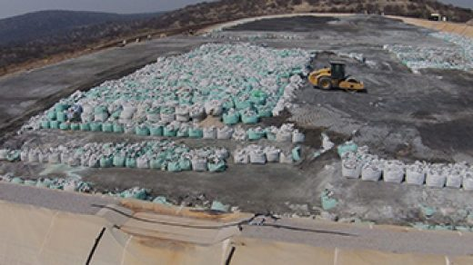 The waste disposal site at the Tsumeb smelter. A state-of-the-art facility?